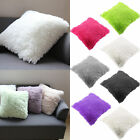 Home Decor Fur Fluffy Sofa Square Pillow Cases Soft Plush Luxury Cushions Cover