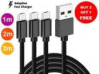 50cm 1m 2m 3m 20AWG Micro USB Fast Charging Cable Samsung Galaxy S6 S7 Data Lead