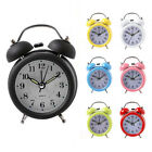 Vintage Quartz Alarm Clock Twin Bell Round Number Desk Bed LED Clock Fashion N1