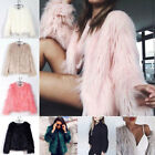 Winter Womens Coat Faux Fur Jacket Parka Outwear Overcoat Outerwear Celeb Party