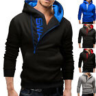 Mens Casual Long Sleeve Hoodie Jumper Pullover Sport Coat Ja