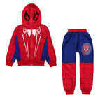 Spiderman Kids Toddler Boy Tracksuit Hoodie Joggers Sweatshirt Clothes Outfit US