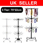 Jewelry Display Keyring Display Rotating Iron 3-tier Revolving Stand Rack New