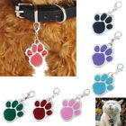 Paw Dog Puppy Cat Anti-Lost ID Name Tag Collar Pendant Charm
