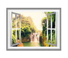 VWAQ 3D Window Decal Wall Sticker Waterfall Mural Wall Art S