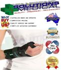 AIRCAST A2 WRIST SPLINT BLACK SUPPORT BRACE WITH THUMB SPICA CARPAL TUNNEL