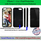 Custom Phone Case Personalized Your Photo Image for iPhone 7 with Tempered Glass