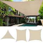 Sun Shade Sail Patio Pool Canopy Lawn Awning Shelter Triangle/Square/Rectangle