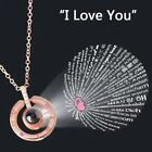 100 Languages Light I Love You Projection Pendant Necklace US8m