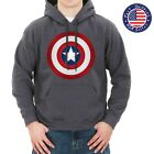 CAPTAIN AMERICA SHIELD CIVIL WAR CLASSIC LOGO COMIC GRAY HOODIE SWEATSHIRT 126