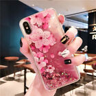 Quicksand Glitter Liquid Dynamic Flowing Case For iPhone Xs Max 6 Huawei Samsung