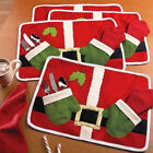 1/2/4Pcs Christmas Xmas Cutlery Tableware Holder Fork Spoon Knife Bag Cover Case