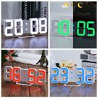 3D LED Table Desk Clock Watch 24/12 Hour Display Alarm Snooze Modern Digital US