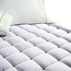 Luxury Deep Pocket Mattress Pad Fitted Quilted Topper 100% Cotton Cooling New image