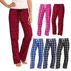 Women Flannel Plaid Pajamas PJ Casual Sleep Lounge Pants 100% Cotton