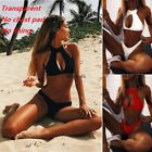 Women Sexy Bikini Set Bra Hollow Solid Swimsuit Swimwear Bathing Suit Beach