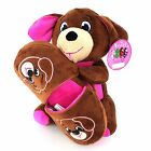 Sweet Dreams Plush Dog and Slipper little girls gift set Brown and Pink
