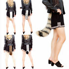 Halloween Faux Fur Fox Tail Cosplay Furry Wolf Dog Adjustable Party Costume Beam