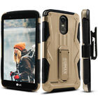 LG Stylo 3 Case, Dual Layer Case with Kickstand & Holster