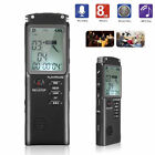16GB Digital Rechargeable Audio Sound Voice Recorder Pen Dictaphone MP3 Player