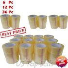 6 12 36 Rolls Clear Carton Sealing Packing Package Tape 2