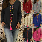 Women Autumn Sweater V Neck Long Sleeve Casual Loose Pullover Jumper Blouse Tops
