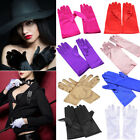 Women Short Wrist Gloves Smooth Satin Party Dress Prom Evening Wedding US FAST