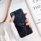For iPhone XS Max XR 6 7 8 Plus Marble Pattern Pop Stand Holder TPU Case Cover