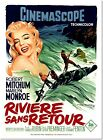 River of No Return Marilyn Monroe Michum Vintage Movie Poster Reproduction