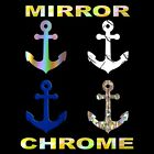 Mirror Anchor Decal Chrome Vinyl Boating Sticker