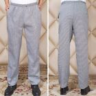 Professional Men Unisex Chef Trousers Kitchen Catering Cook Pants Uniform M-4XL