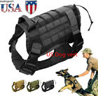 US Police K9 Tactical Training Dog Harness Military  Pet animal Molle Nylon Vest