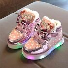 Kids Boots New Children Shoes Lighted Fashion Baby Sneakers Girls Warm Footwear