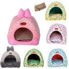 Pet Dog Cat House Kennel Soft Igloo Beds Cave Cat Puppy Bed Doggy Warm Cushion