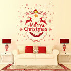 Christmas Diy Wall Sticker Santa Xmas Window Home Decor Decal Art Removable Usa