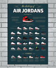 E327 Art Air Jordan Shoes Sneaker AJ1 TO AJ29 18 24x36inc Poster Gift