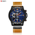 CURREN Men Casual Watches Chronograph Waterproof Quartz Watch Sport Wristwatch