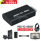 New PS2 to HDMI Convertor with 3.5mm Audio Output Port TV HD Video Converter