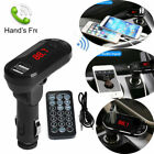 0F51 Bluetooth LCD Screen Handsfree Car Charger Player Wireless FM Transmitter