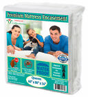 Premium Waterproof Mattress protector 150 GSM Fabric Zippered encasement Cover image