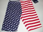 New 4th of July Girls Flag Shorts Red/White/Blue