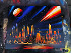 Fire way. Spray Paint Art. Stretched Canvas.