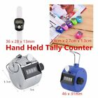 Hand Held Tally Counter Manual Counting 4 Digit Number Golf Clicker HH