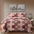 Bed Quilt Set Bedspread Coverlet Twin Full/Queen Vintage Lightweight Microfiber image