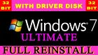 (35+ Sold) - MICROSOFT WINDOWS 7 or XP 32 & 64 |INSTALL DISK| DRIVERS DISK (8-10