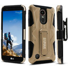 LG K20 Plus / K20 V / LG Harmony Case, Dual Layer Case with Kickstand & Holster