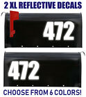 Large 6inch Tall - Reflective - Mailbox Decal Numbers | Address Stickers Letters