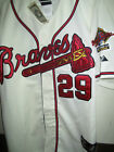 Brand New! Atlanta Braves Cooperstown #29 John Smoltz Majestic Jersey WHITE MENS on Ebay