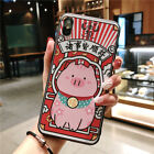 Chinese New Year Happy Pig Lucky Cat Case Cover For iPhone XS Max XR X 8 7 Plus