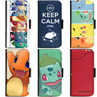 PIN-1 Game Pokemon 3 Phone Wallet Flip Case Cover for Samsung